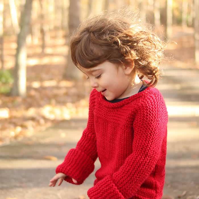 Easy Knit Toddler Sweater Knitting Pattern Gina Michele