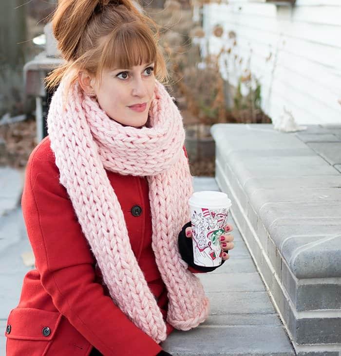 Jumbo Scarf Free Knitting Pattern