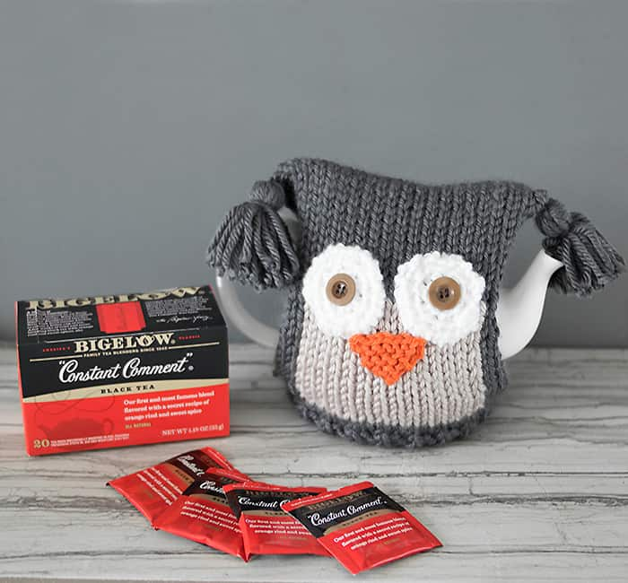 Owl Teapot Cosy Knitting Pattern Tea Proudly With Bigelow Gina