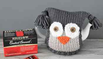 Fox tea cosy knitting pattern and tea proudly with bigelow tea owl teapot cosy knitting pattern tea proudly with bigelow dt1010fo