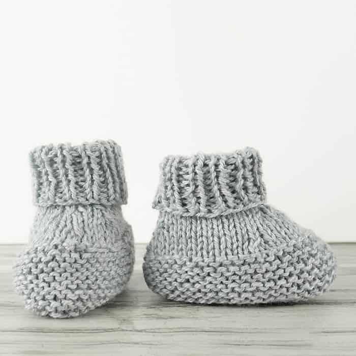 Flat Knit Baby Booties Knitting Pattern