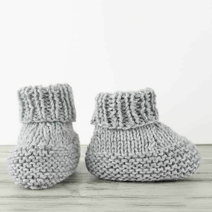 Flat Knit Baby Booties Knitting Pattern