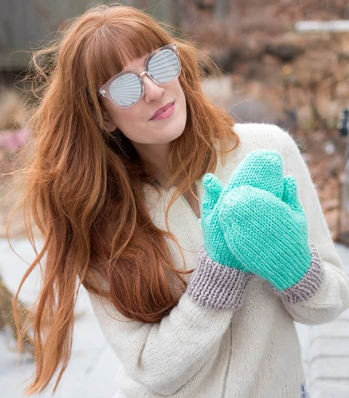 Flat Knit Mittens Knitting Pattern Gina Michele