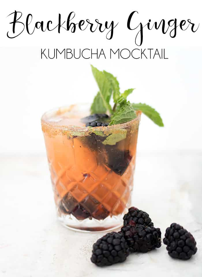 Blackberry Ginger Kumbucha Mocktail