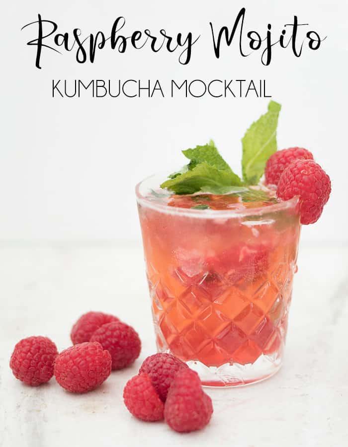 Raspberry Mojito Kumbucha Mocktail