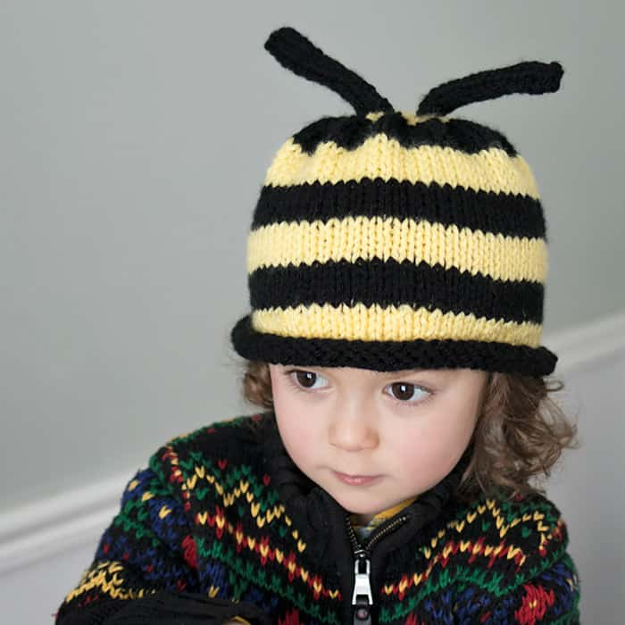 Bumble Bee Hat Knitting Pattern