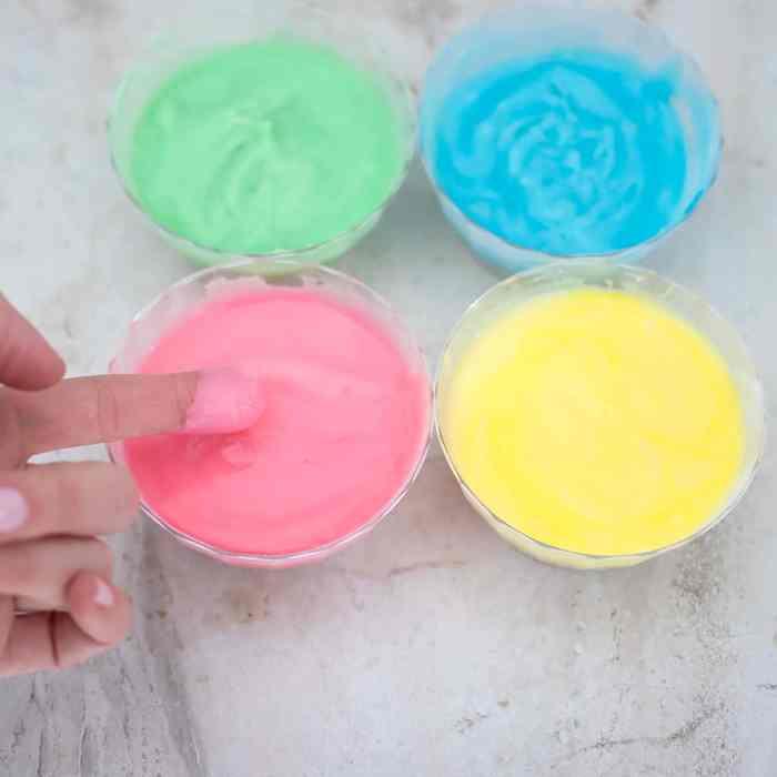 Edible Finger Paints DIY