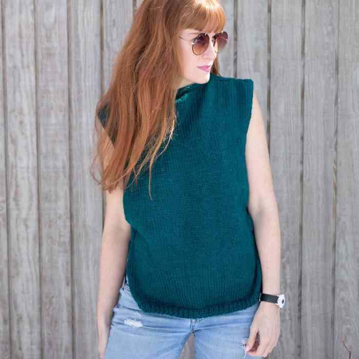 Easy Tank Knitting Pattern - Gina Michele