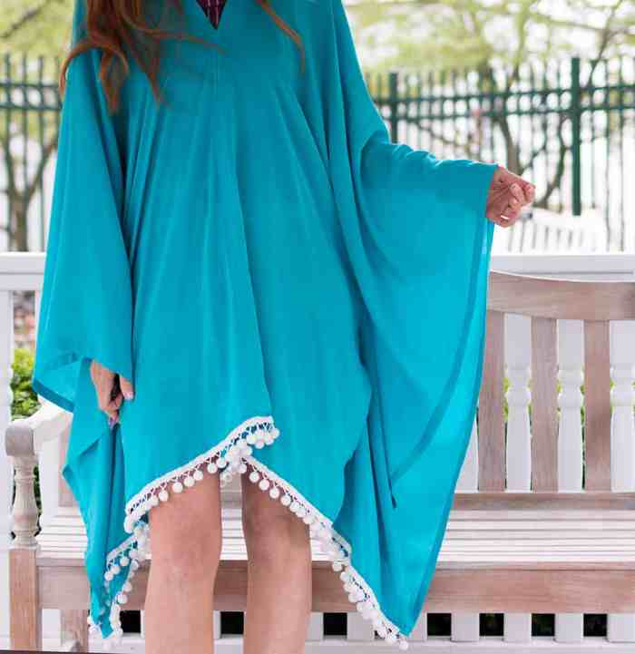 How to Sew An Easy Caftan Dress- No Pattern Needed!