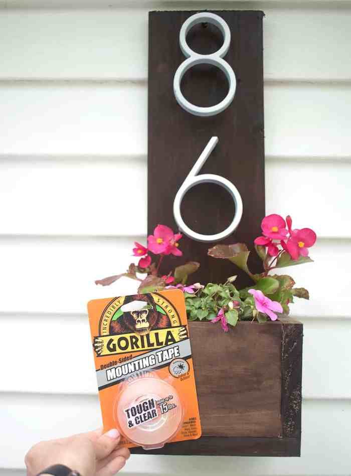 House Address Planter DIY