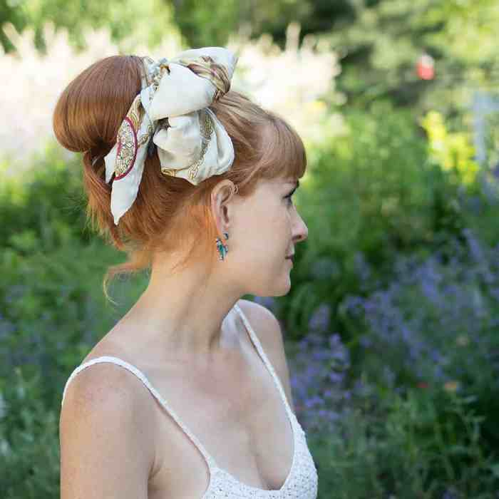 Easy Scarf Updo