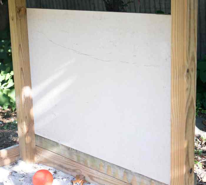 Outdoor Chalkboard DIY
