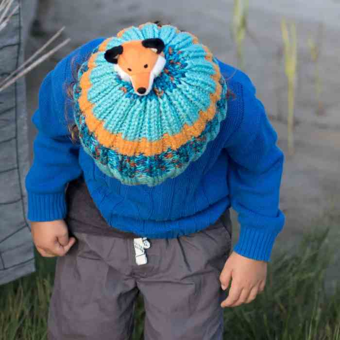 Kids Fox Hat Knitting Pattern