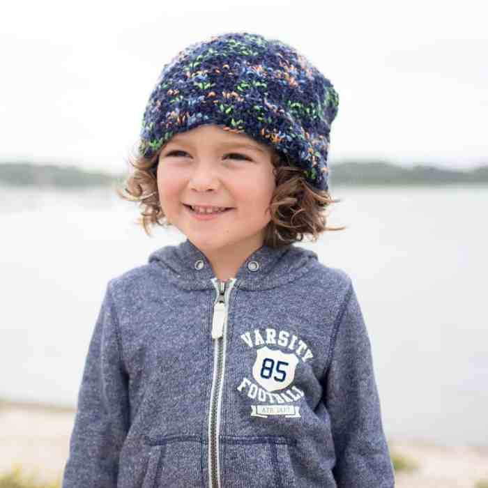 Kids Slouch Hat Knitting Pattern