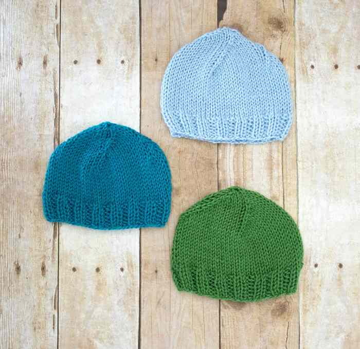 Newborn Hat Knitting Pattern