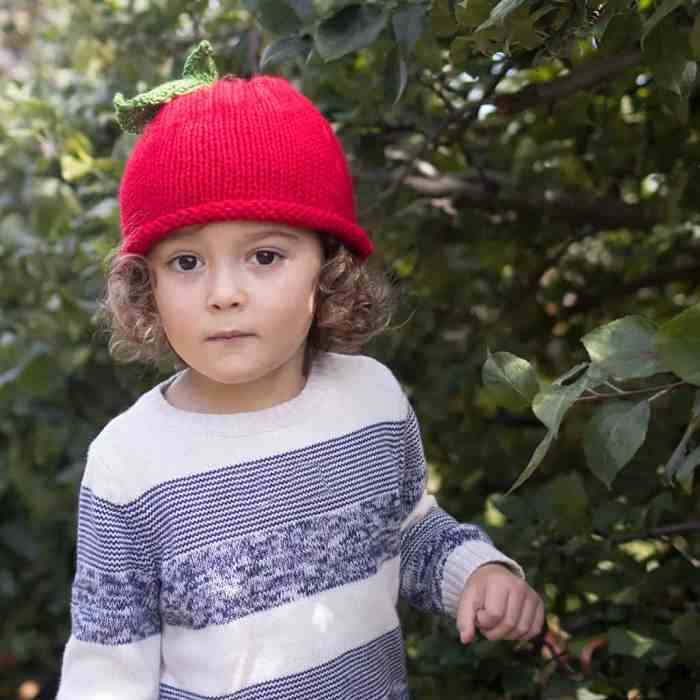Apple Hat Knitting Pattern