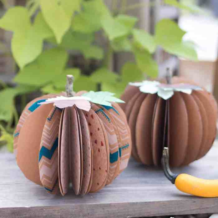 How to Make Paper Pumpkins with Gorilla Glue & $250 Visa Gift Card giveaway!