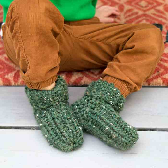 Flat Knit Kid's Slippers by Gina Michele