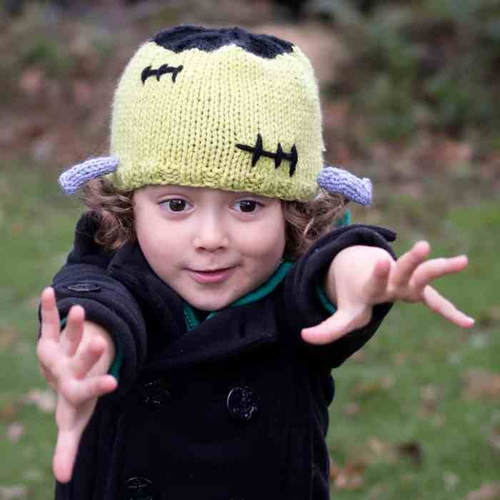 Frankenstein Hat Knitting Pattern