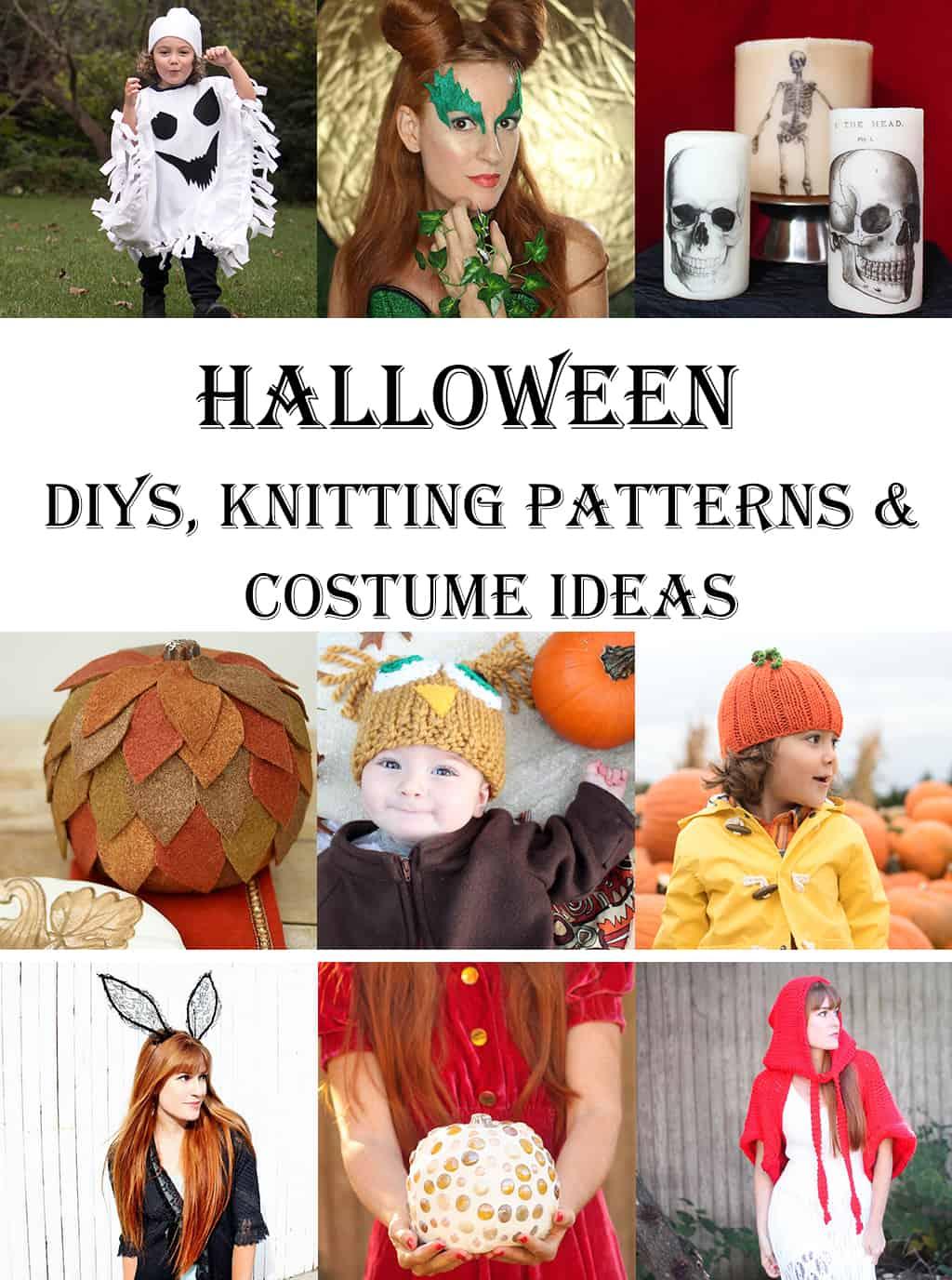 18 Halloween DIYs, Knitting Patterns and Costume Ideas - Gina Michele