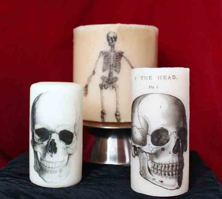 Printed Halloween Candles DIY