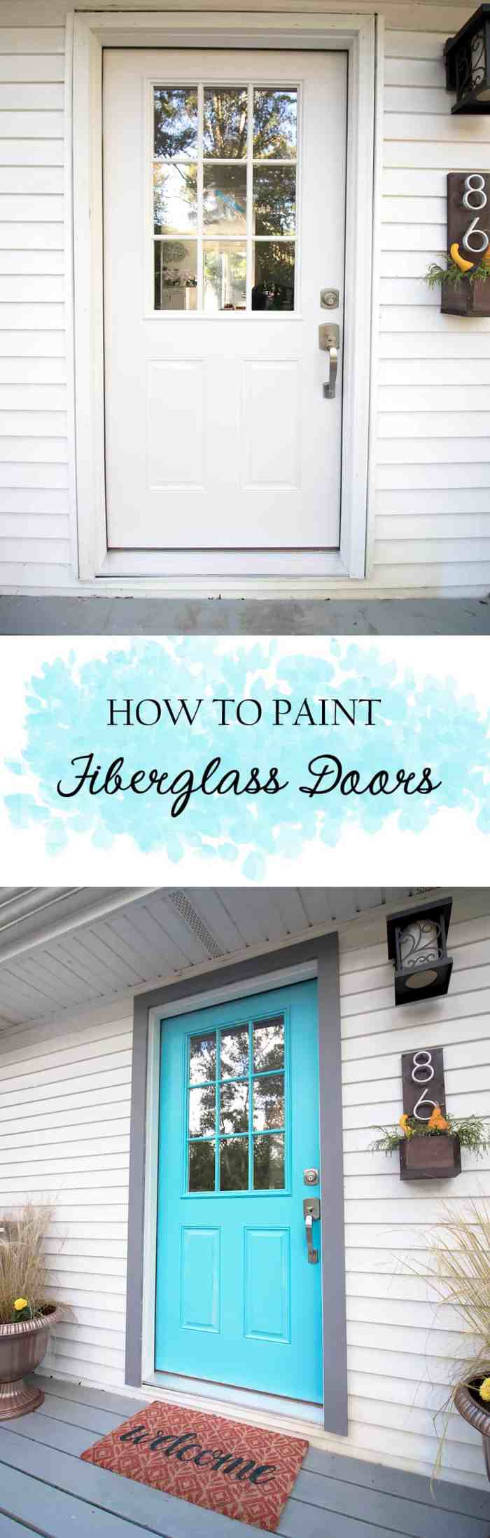 How to Paint Fiberglass Doors