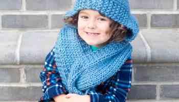 bfa91b7fa Easy Kids Poncho Knitting Pattern - Gina Michele