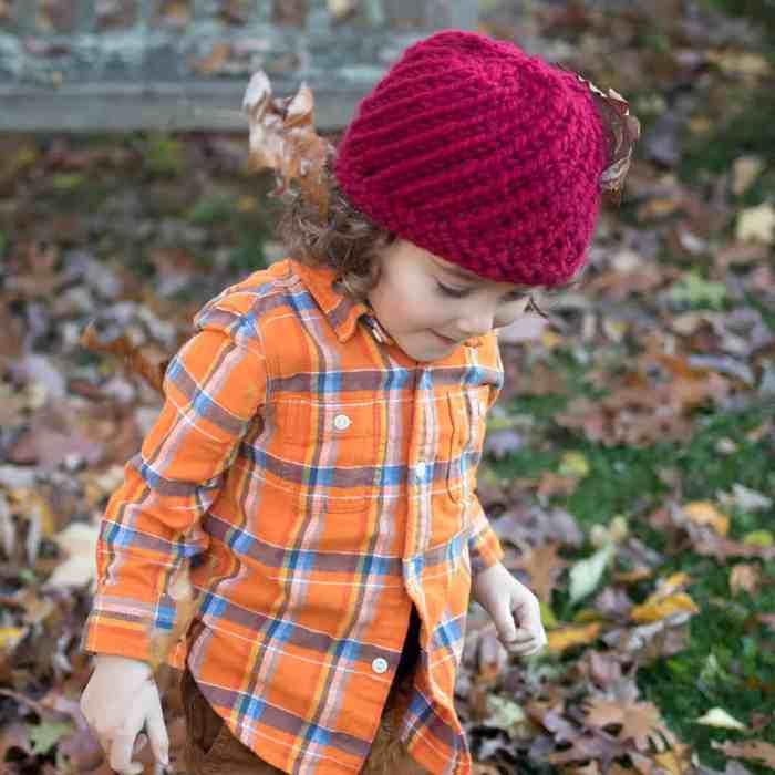 Kids Swirl Hat Knitting Pattern by Gina Michele