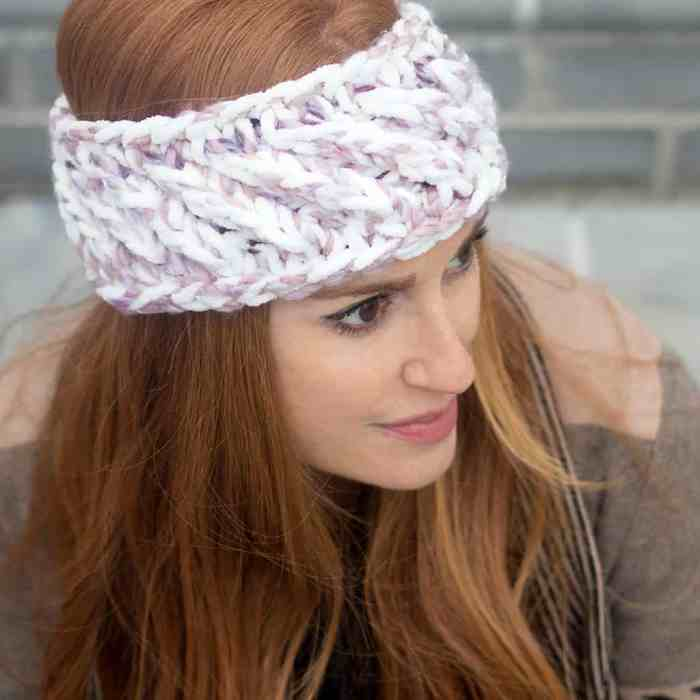 Swirl Headband Knitting Pattern by Gina Michele