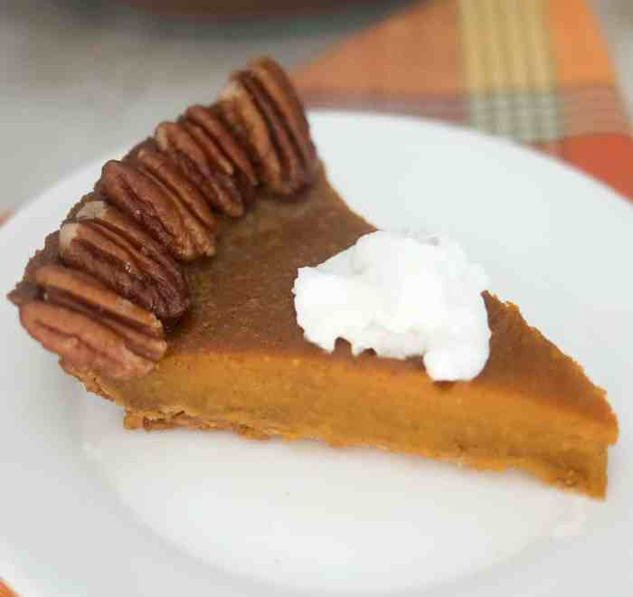Vegan Pumpkin Pie with Candied Pecans