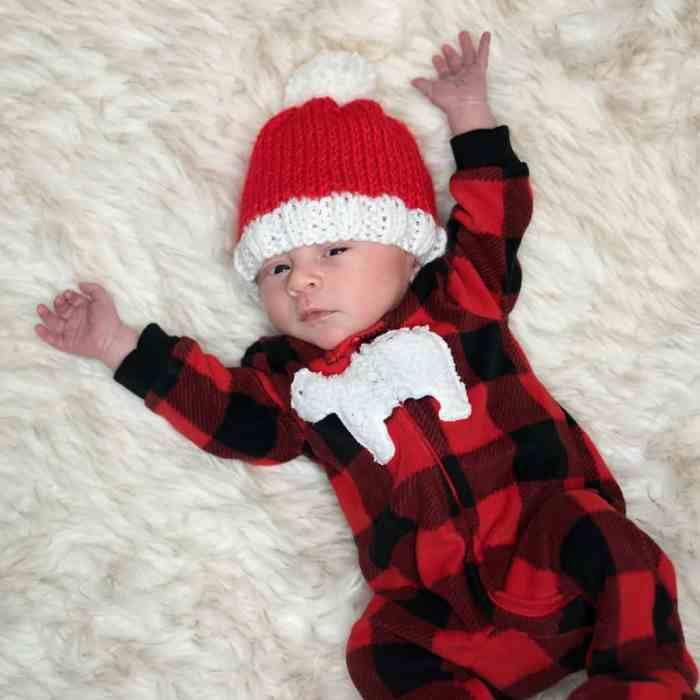Newborn Santa Hat Knitting Pattern