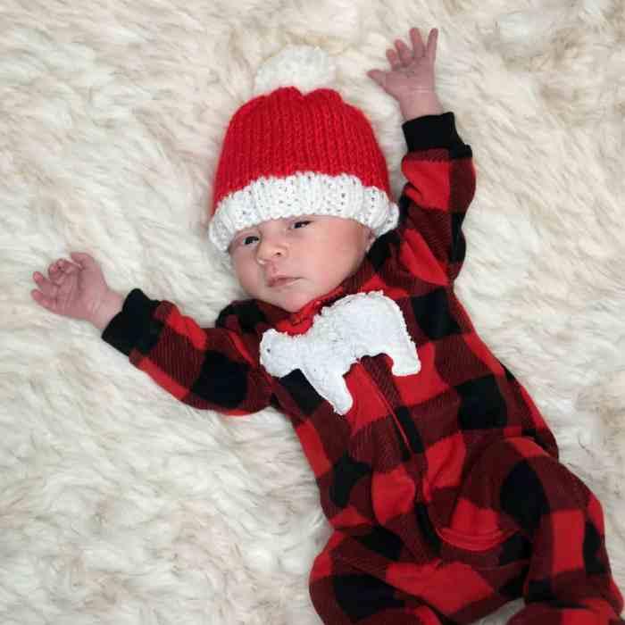 Newborn Santa Hat Knitting Pattern