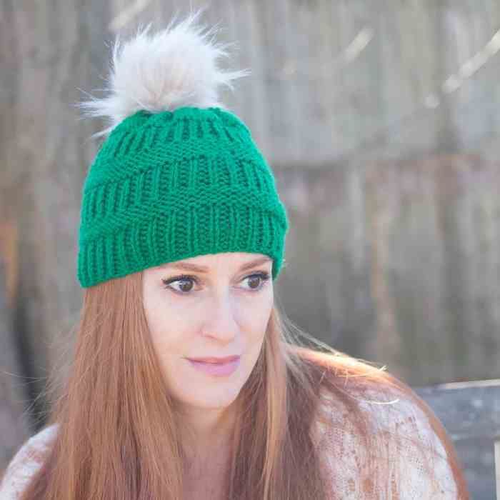 Rib Stripe Hat Knitting Pattern
