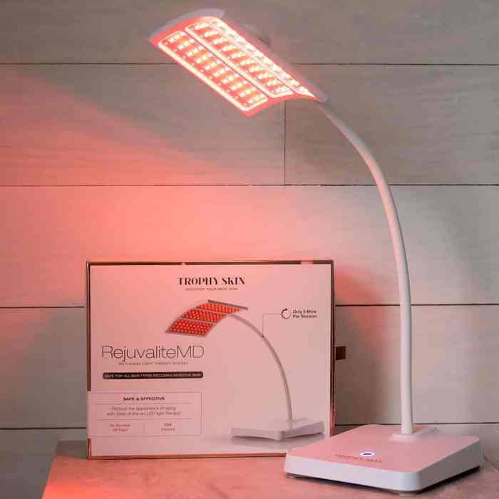 Trophy Skin RejuvaliteMD Anti Aging Red LED Light Therapy Beauty Device