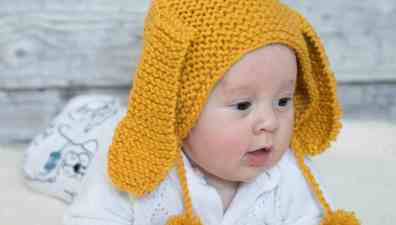 Beginner Flat Knit Hat Knitting Pattern - Gina Michele