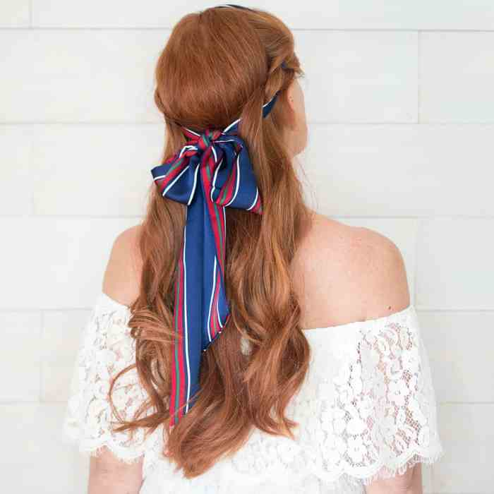 Half Updo with Scarf Video Tutorial by Gina Michele