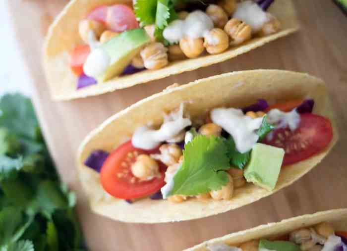 Vegan Rainbow Tacos with Tahini Lime Sauce