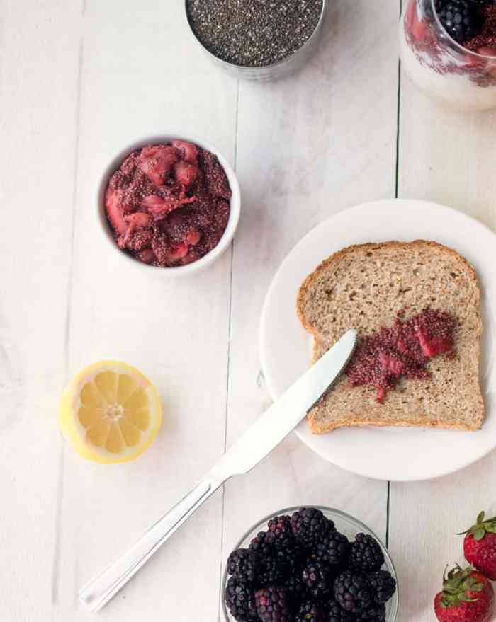 5 Minute Chia Seed Jam- Only 4 Ingredients!