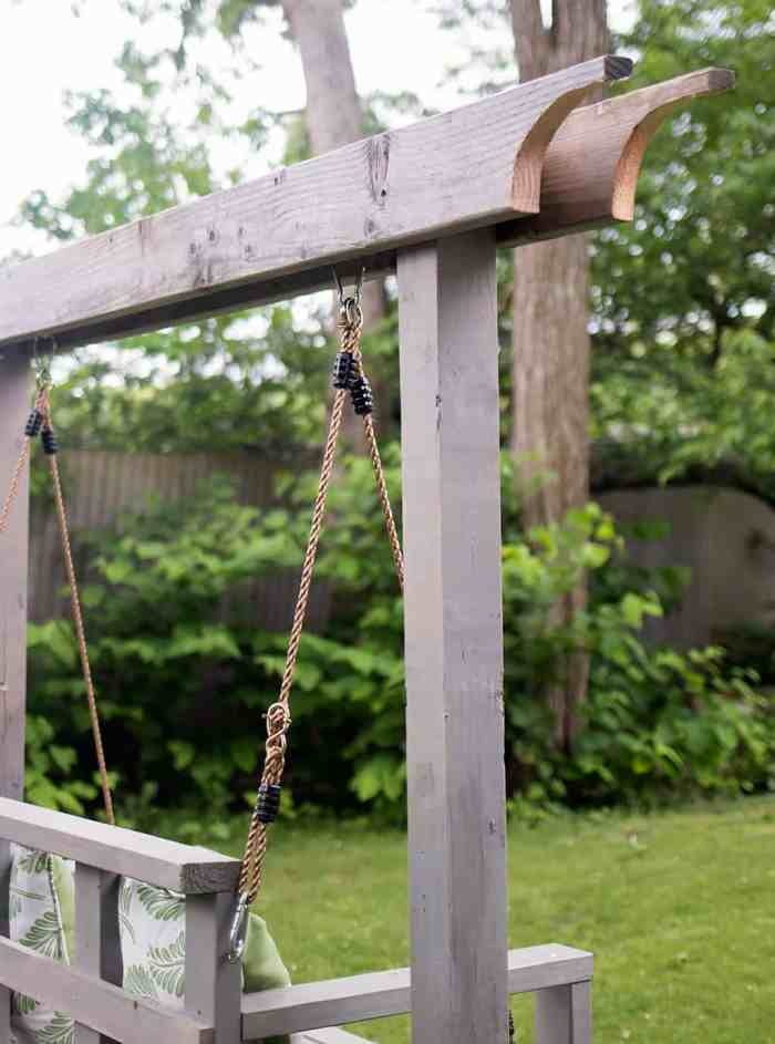 How to Build a Porch Swing Stand & How to Hang a Porch Swing
