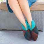 Slippers Free Knitting Pattern