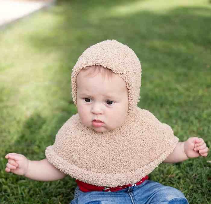 Baby Poncho Knitting Pattern by Gina Michele