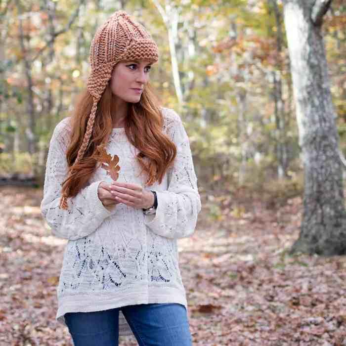 Easy Ear Flap Hat Knitting Pattern
