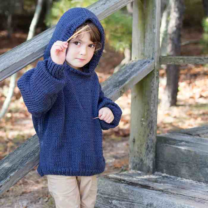 Easy Kids Sweater Knitting Pattern