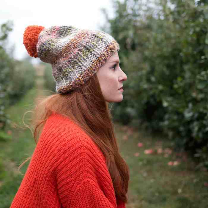 Beginner Thick and Quick Hat Knitting Pattern