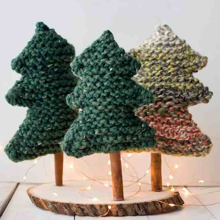 Easy Christmas Tree Knitting Pattern