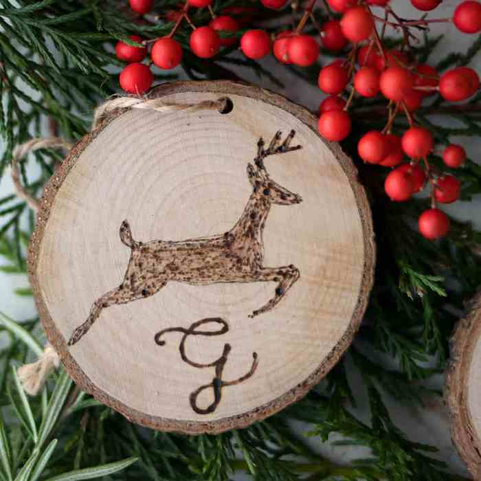 Easy Wood Burned Gift Tags or Christmas Ornaments