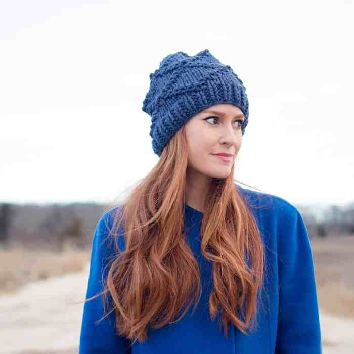 Diamond Knit Hat Pattern
