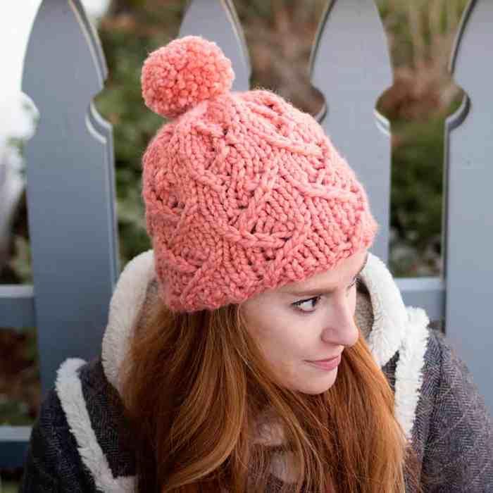 Zig Zag Stitch Hat Knitting Pattern