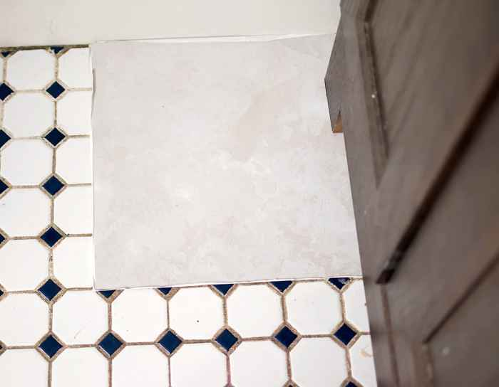 Fast and Easy Bathroom Makeover with Achim Flooring plus a Giveaway!