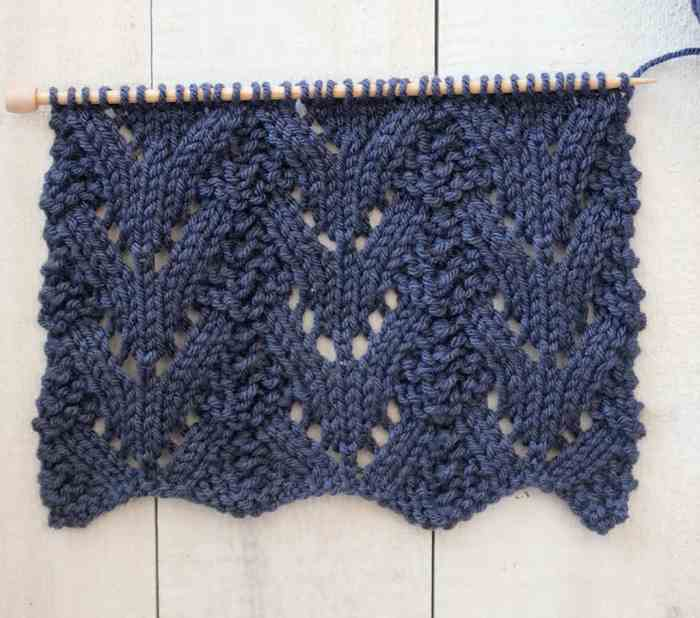 Norwegian Fir Knit Stitch